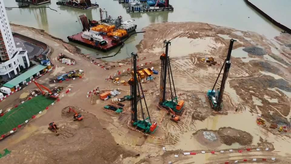Closeup for Tung Chung Reclamation Site